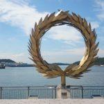 小豆島「太陽の贈り物」で記念撮影。