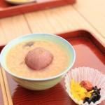 高見島のお寺で茶粥が食べられます。