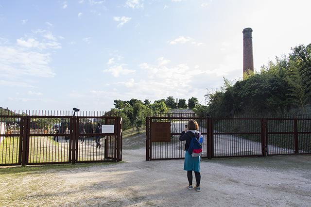 犬島精錬所美術館の入り口。
