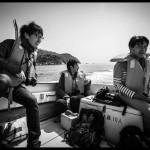 島に向かう船上での一枚